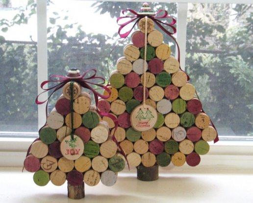 albero di Natale con i tappi di sughero