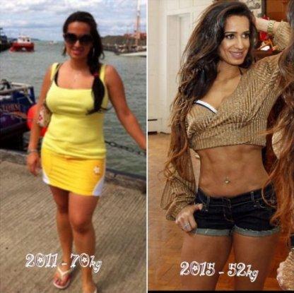Angela prima e dopo