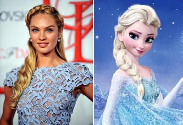 Candice Swanepoel e Elsa (Frozen)