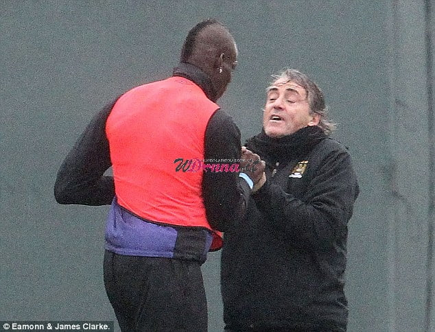 Rissa Balotelli e Mancini arrivano alle mani