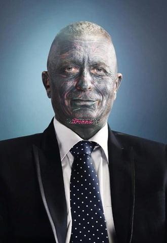 Vladimir Franz, politico  completamente tatuato