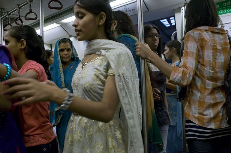 india metro solo donne