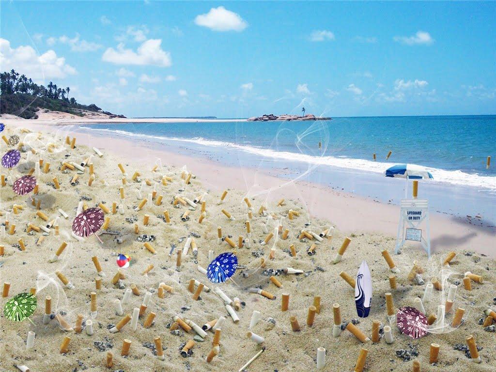 fumare in spiaggia
