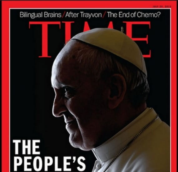 Il Papa con le corna sul Time