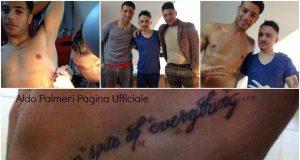 Aldo Palmieri tatuaggio per Alessia