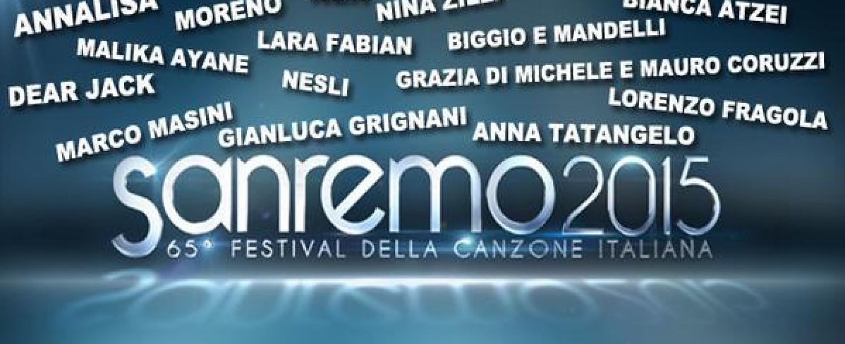 Sanremo 2015 : i 20 Big in gara ma è fuori suor Cristina