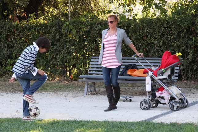 Alessia Marcuzzi con Tommaso e Mia