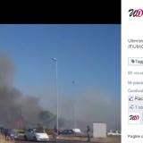 Incendio a Parco Leonardo a Fiumicino (VIDEO)