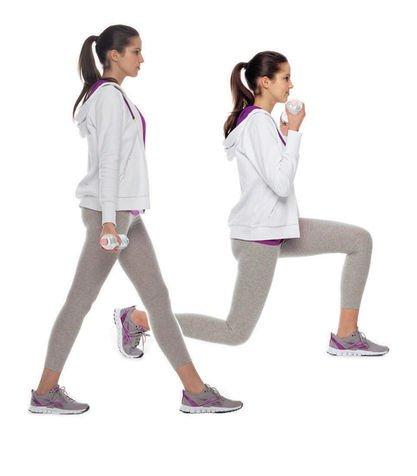 esercizi affondi gambe