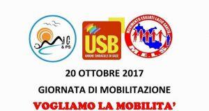 20 ottobre 2017 Manifestazione per la mobilità Regione Lazio