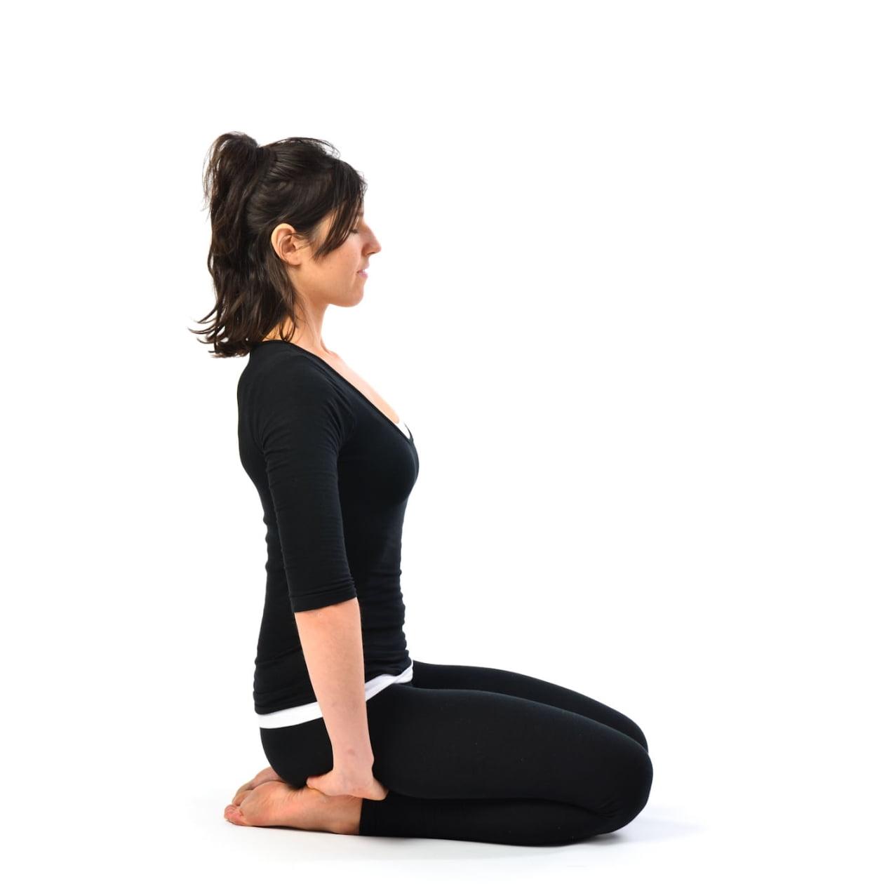 Vajrasana  posizione yoga per la digestioneVajrasana