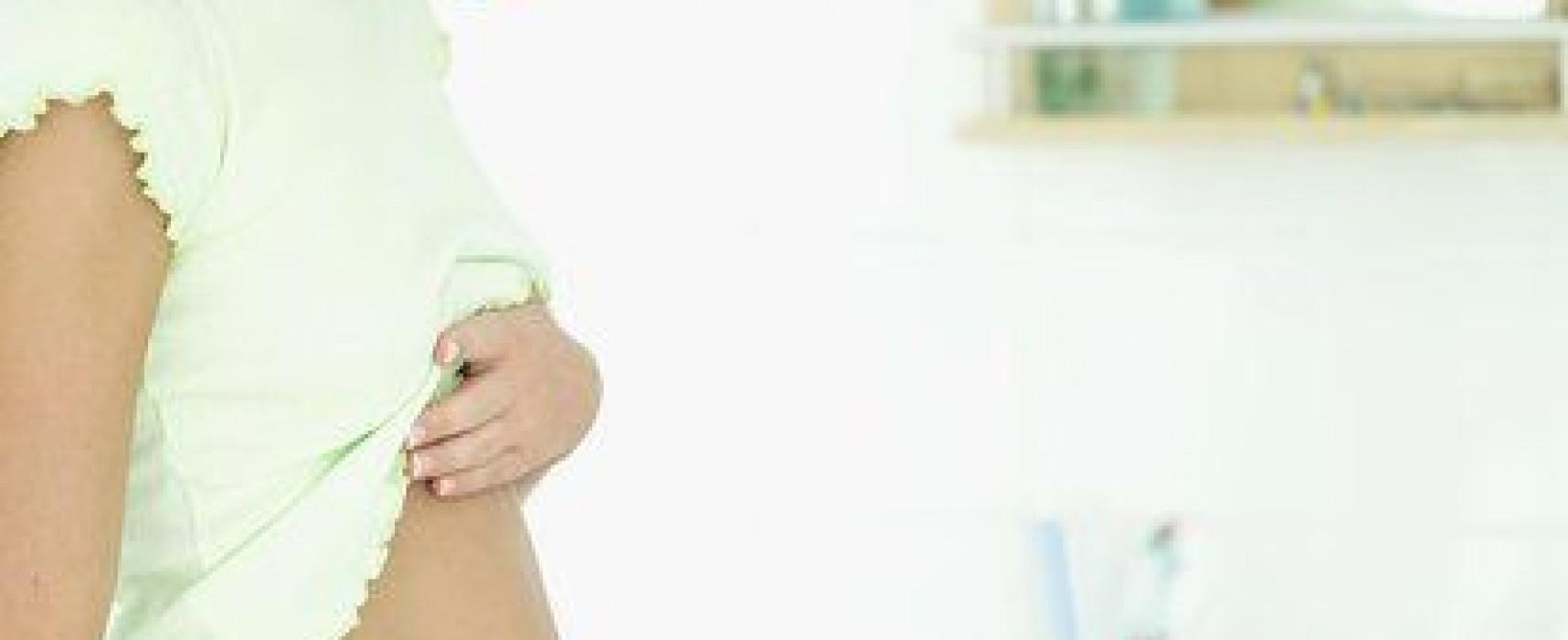 Нет прыщей перед месячными признак беременности
