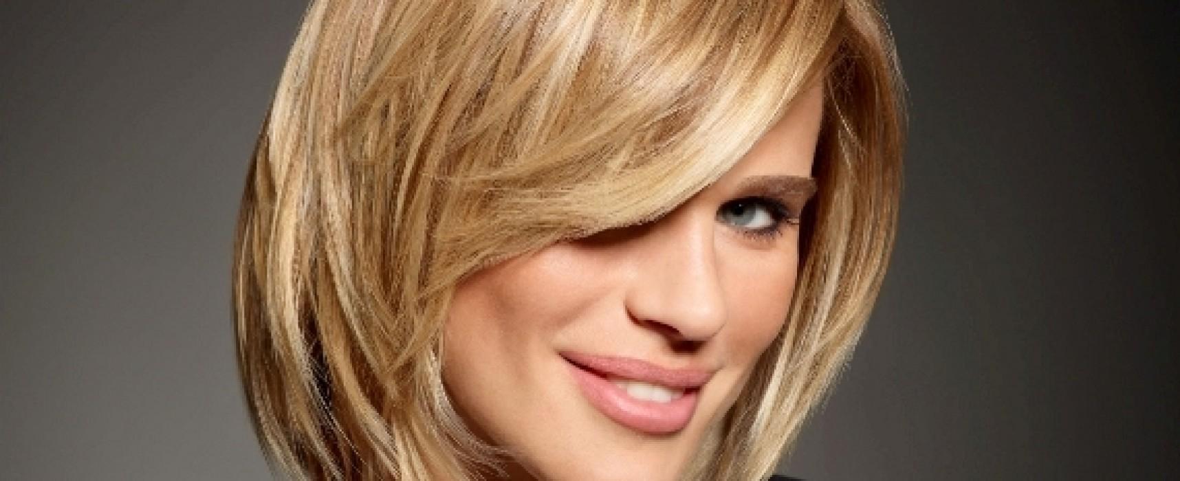 Стрижки на средние волосы для широкого лица фото