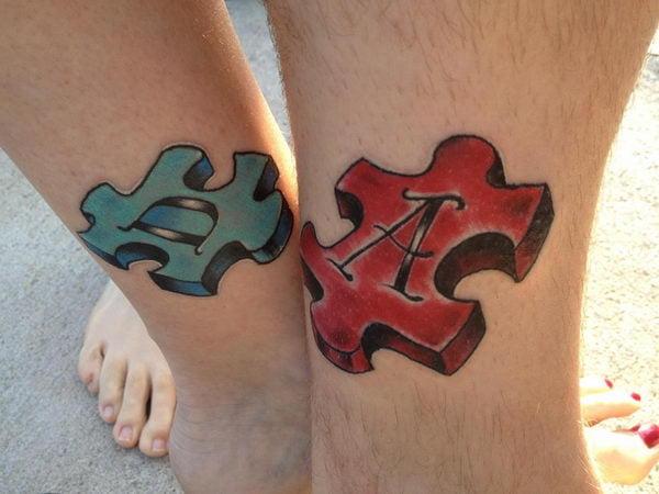 Tatuaggio a forma di puzzle for Design seminterrato non finito